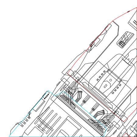 Lignes industrielles papier peint Banque d'images - 38287033