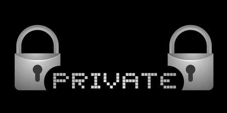 private: Private message Illustration