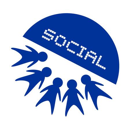 school meeting: social icon Illustration