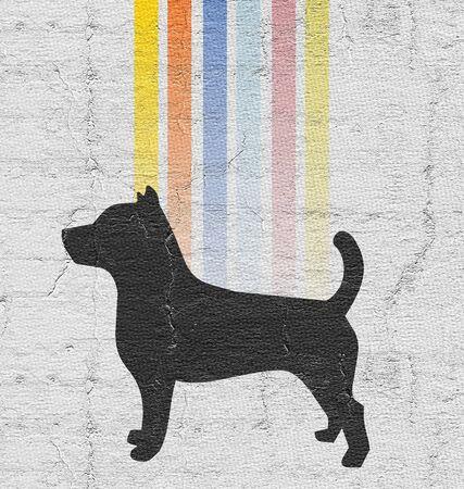composition: Dog art composition