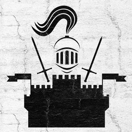 broken strategy: Medieval symbol Stock Photo