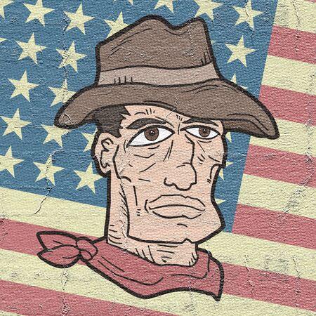 gunman: Flag and gunman