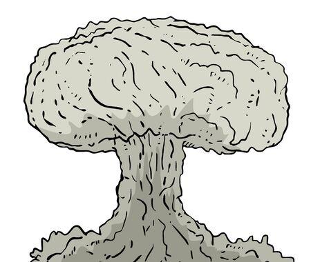 grossa bomba vettore tiraggio