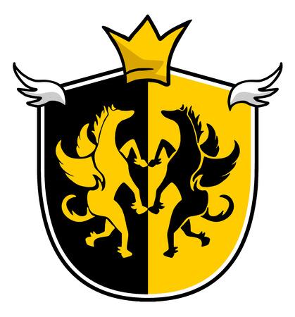 rey medieval: elegante rey emblema medieval