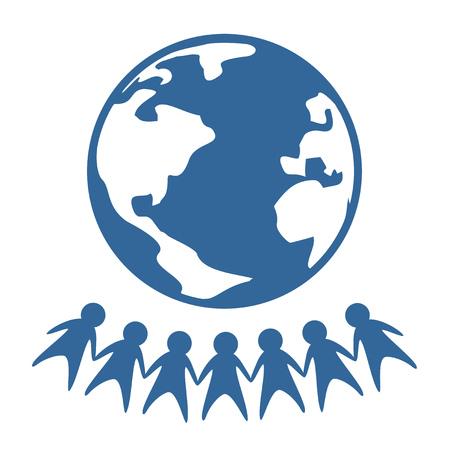 world peace: world peace symbol Illustration