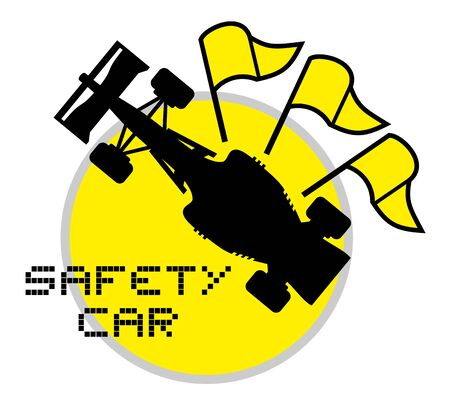 checked flag: safety car symbol