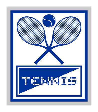 tennis symbol Vector
