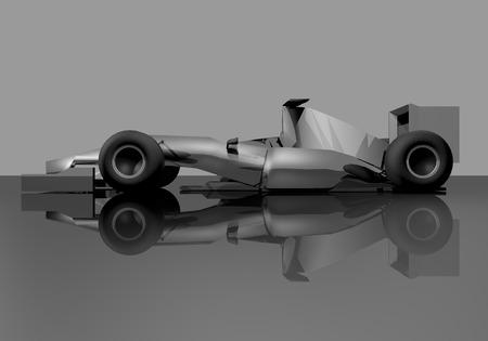 elegant racing car photo