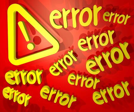 advise: error advise Stock Photo