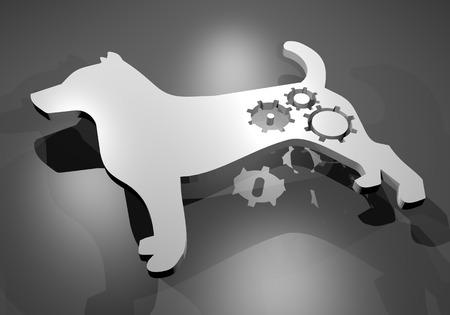 white robot dog photo