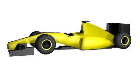 yellow racing car photo