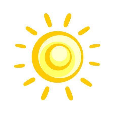 抽象的な太陽