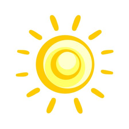 추상 태양 일러스트