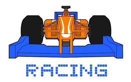 racing: Racing car Illustration