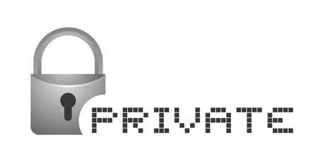 private: Private sign