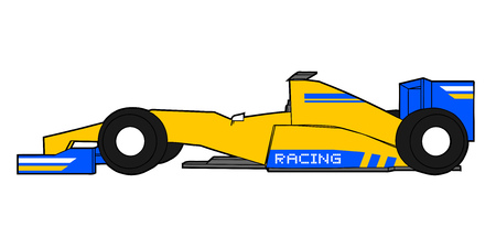 racing: Yellow racing car Illustration
