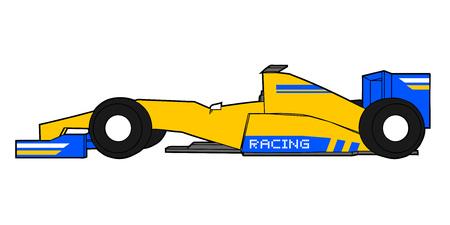 aerodynamics: Yellow racing car Illustration