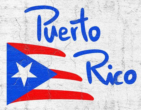 Flag Puerto Rico Stock Photo