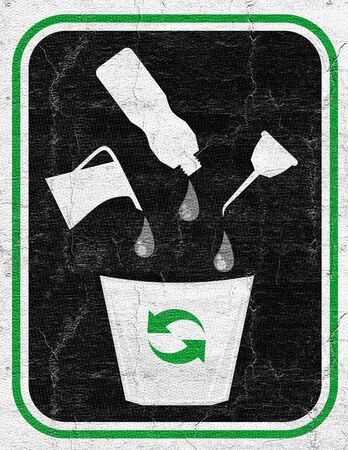 fossil fuel: Oil recycle Stock Photo