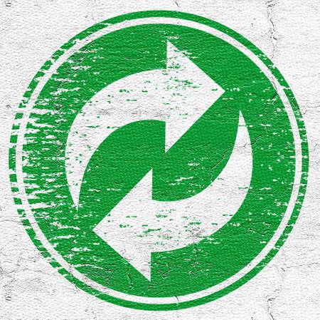 original single: Recycle emblem