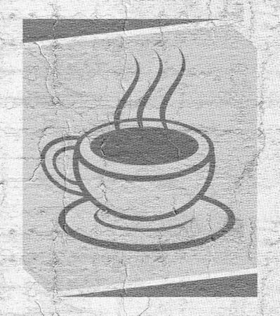 Coffee emblem photo