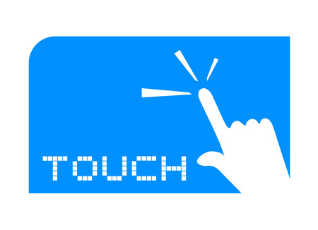 touch screen hand: touch icon