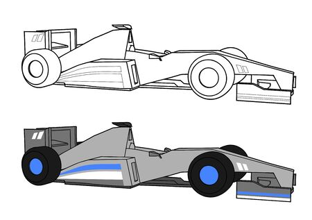 racecar: racing car Illustration