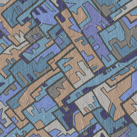 original single: Art mosaic Stock Photo