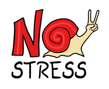 overwork: no stress message Illustration