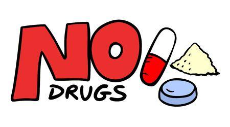 unlawful: no drugs symbol