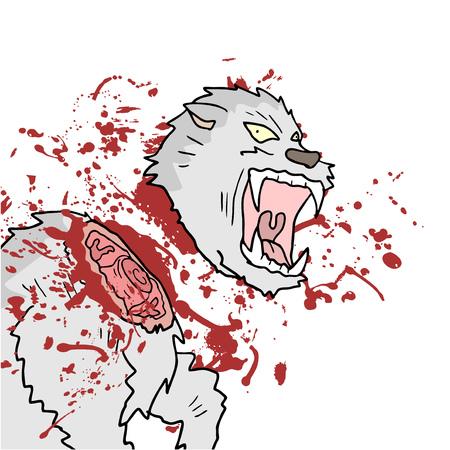 blood draw: gore animal scene
