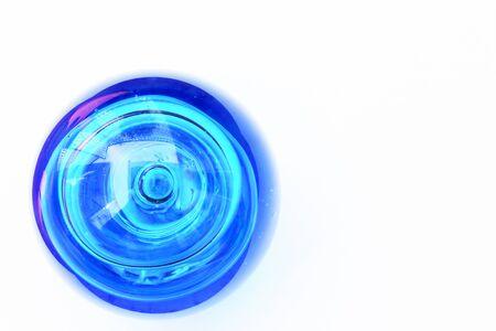blue ball: decorate blue ball Stock Photo