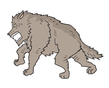 wolf illustration Illustration
