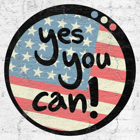 yes you can: Yes you can Stock Photo