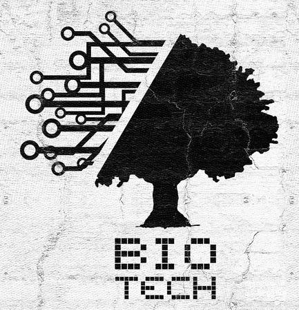 imagine a science: Bio tech tree Stock Photo