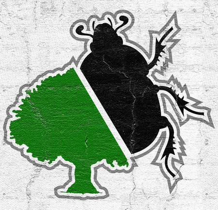 geotrupes: Beetle and tree