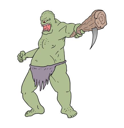 villain: ogre draw Illustration