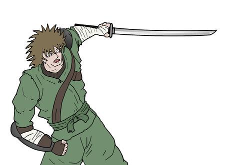 samurai sword: samurai sword attack