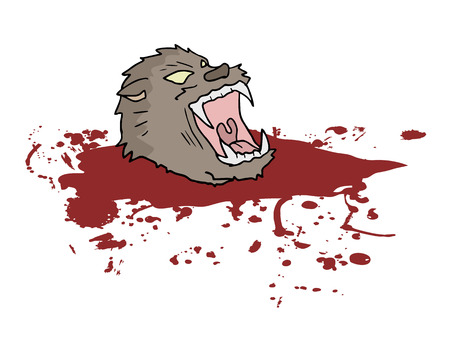 gore wild wolf head Фото со стока - 41199389