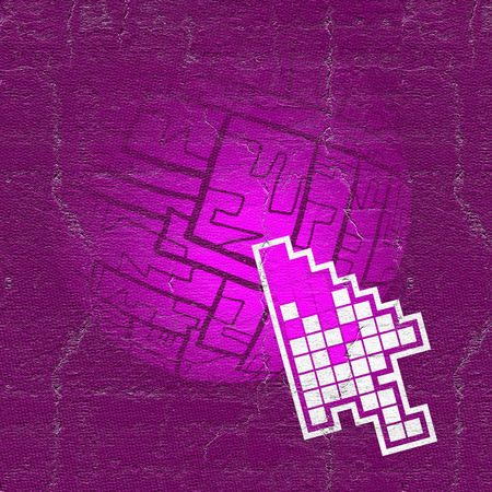 original single: Pink web Stock Photo
