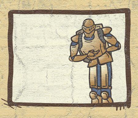 reverence: old medieval warrior comic