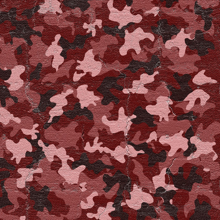 war decoration: Red camouflage Stock Photo