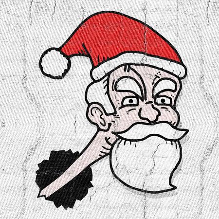 old man portrait: Santa claus Stock Photo