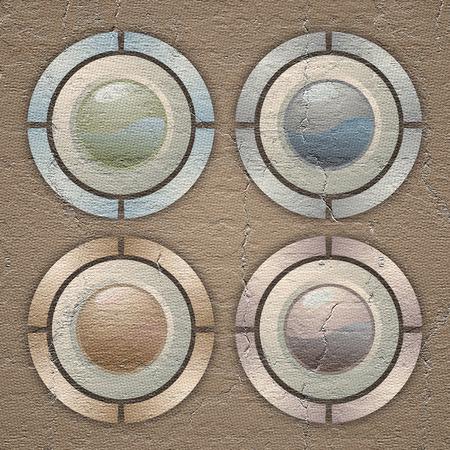 original single: Four buttons