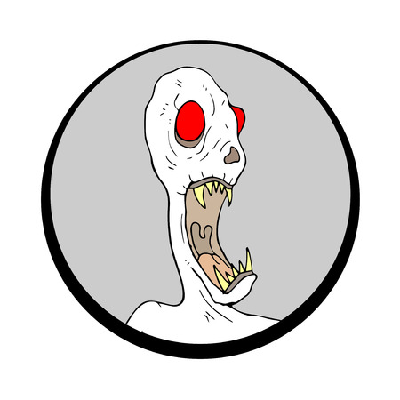 monster face: Halloween monster face