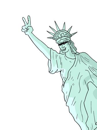 liberty: happy liberty statue