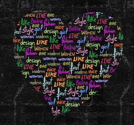 covet: Heart letters