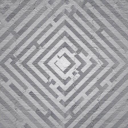 original single: Future maze Stock Photo