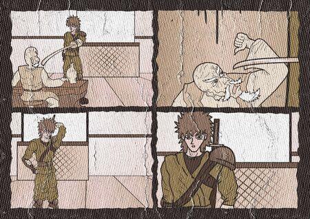 the passage: Vintage comic