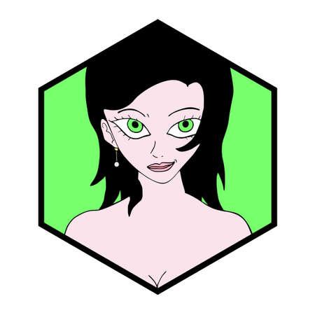 girl illustration: ni�a bonita ilustraci�n s�mbolo